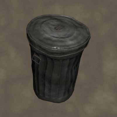 3d model old trash zipped