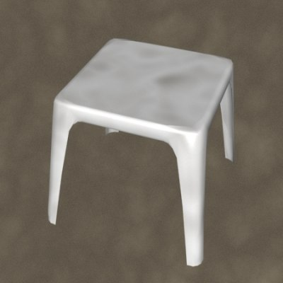 molded table zipped 3d 3ds