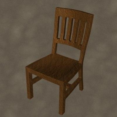 3dsmax chair zipped