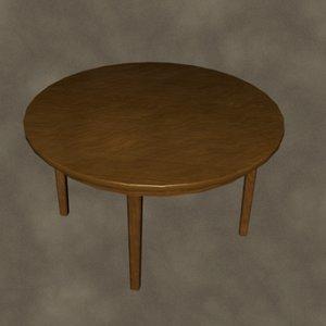 table zipped 3d model