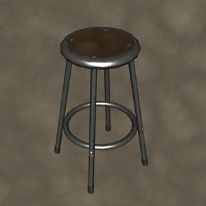 3d lab stool zipped