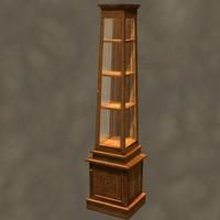3d curio cabinet zipped model