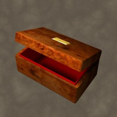 3d wooden box zipped model
