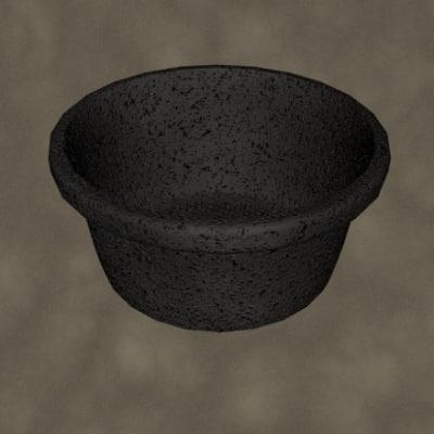 3d rubber bucket zipped model