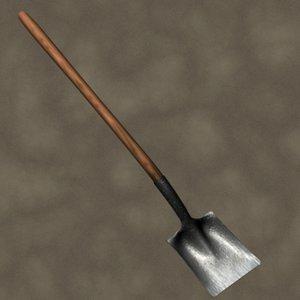 3ds max flat shovel zipped