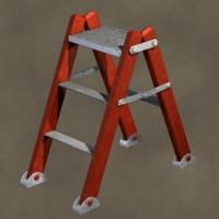 step ladder zipped 3d max