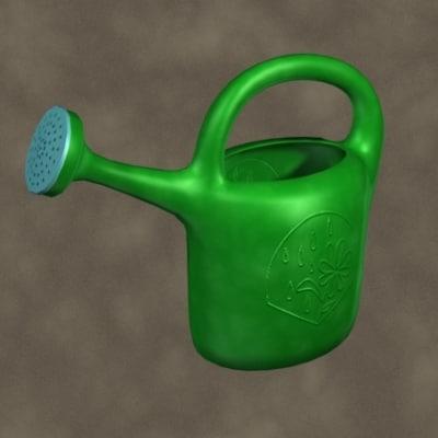 plastic watering zipped 3d model