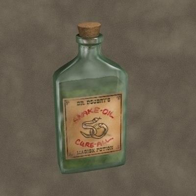 snake oil 3d model