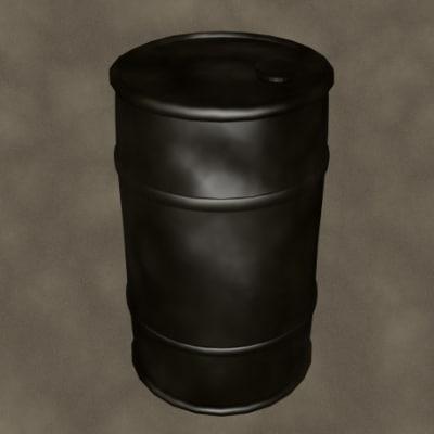 3d oil drum zipped model