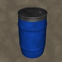 plastic drum zipped 3d model