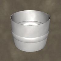 half plastic drum zipped 3d max