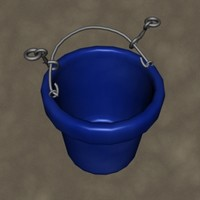 3d model stall water bucket zipped