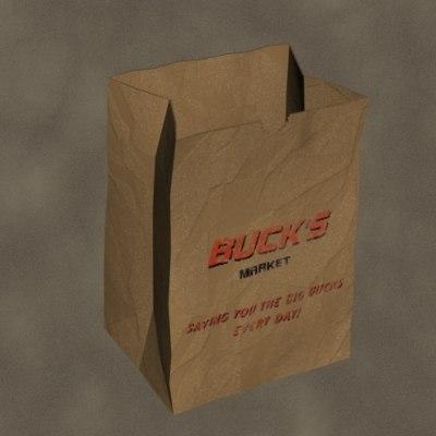 grocery bag 3d model