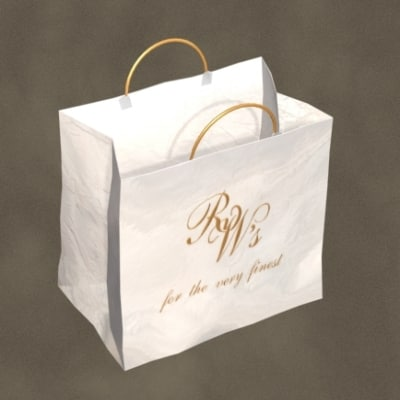 3d model shopping tote zipped
