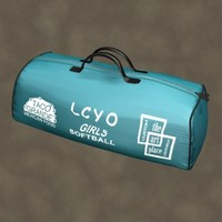 duffle bag zipped 3d model