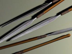 zulu spear iklwa 3d model