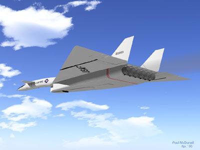 xb-70 bomber 3d model