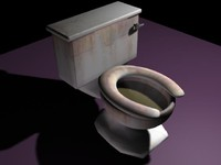 free toilet bathroom bowl 3d model