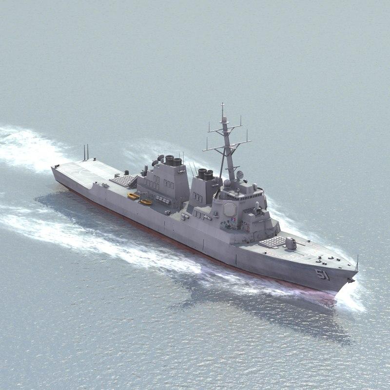 navy destroyer 3d lwo