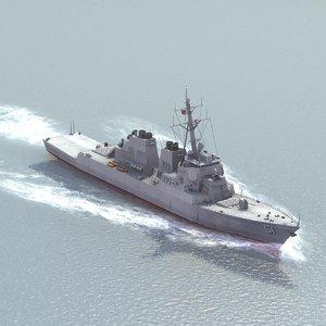 arleigh burke class destroyer 3d model