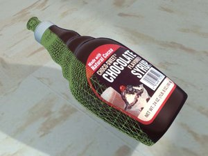 3d model of chocolate syrup