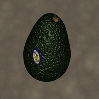 3d avocado zipped model