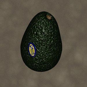 3d avocado zipped model