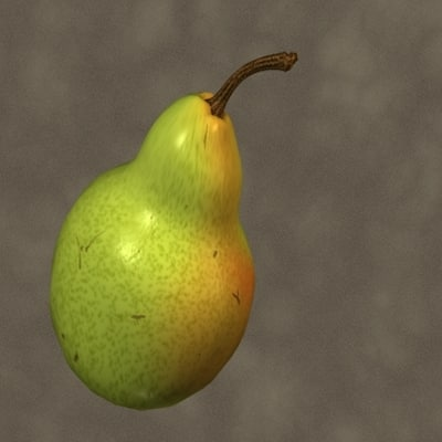 3d model pear zipped