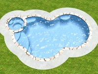 freeform swimming pool 3d model