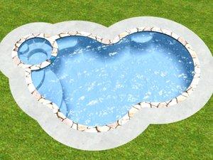 freeform swimming pool 3d model