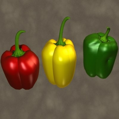 bell pepper zipped 3d 3ds