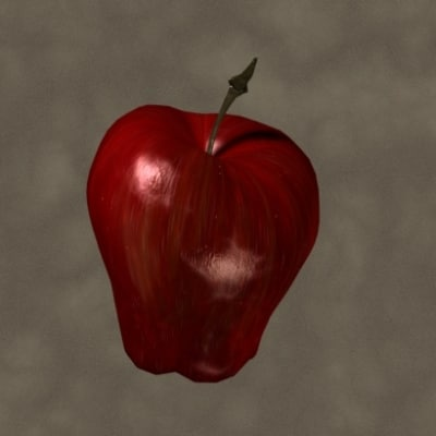 3d red delicious apple zipped
