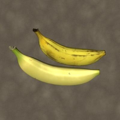 3d bananas zipped model