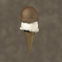 3d ice cream cone zipped model