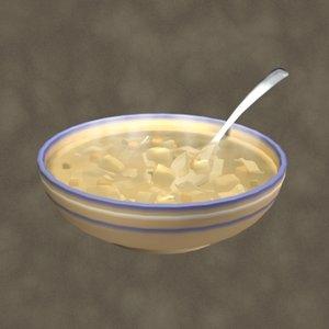 3d model chicken soup zipped