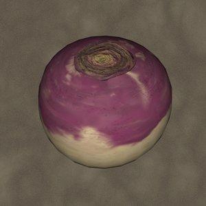 3d turnip zipped model