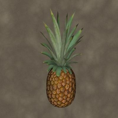 pineapple fruit 3d model