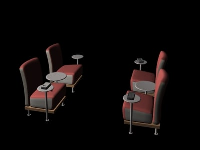 group chairs 3d max