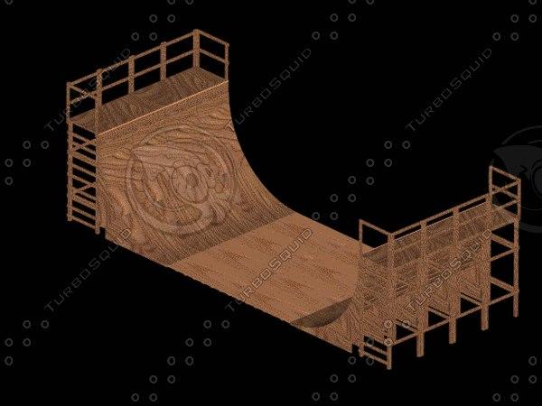 3d halfpipe skate model