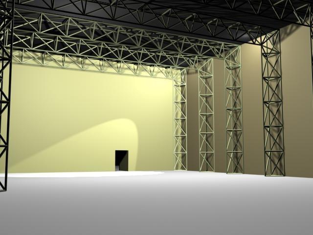 truss trusswork 3d model