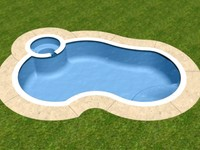 3d model freeform swimming pool