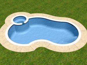 3d model freeform swimming pool