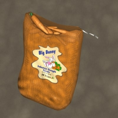 3ds max carrot sack zipped