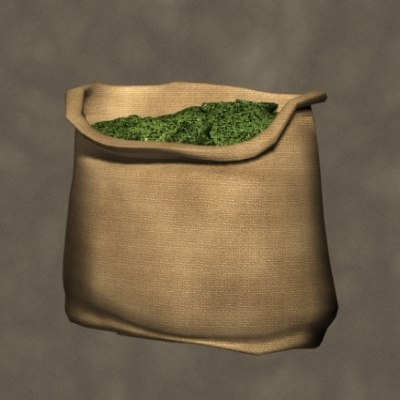 feed sack open zipped 3d max