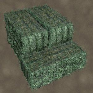 grass hay zipped 3d 3ds