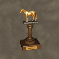 3d trophy horse zipped model