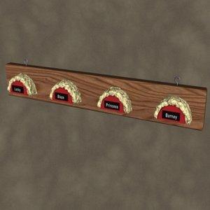 3d model of bridle rack zipped