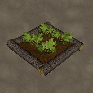 3d box garden squash zipped model