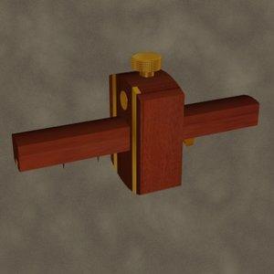 3d model mortise gauge zipped