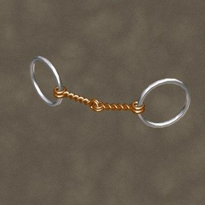 maya twisted wire snaffle zipped